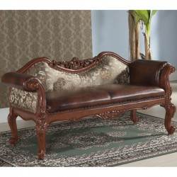 Leather / Cruellled Silk Bench