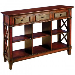 Metal Three Drawer Console