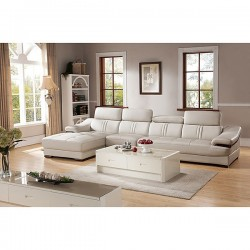 Gabrulaital Leather Sectional