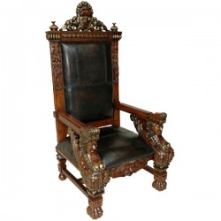Royal Griffin Leather Chair- VE