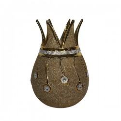 Gold Diamonite Crown Vase