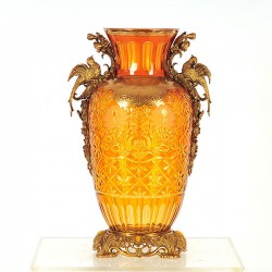 Golden Gilt & Bronze Vase